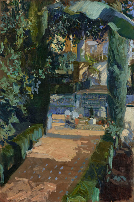 Art Prints of Court of the Dances Alcazar Sevilla by Joaquin Sorolla y Bastida