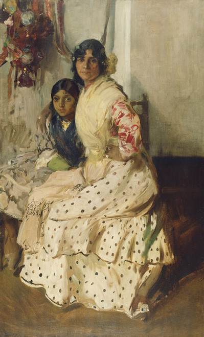 Art Prints of Pepilla the Gypsy and Her Daughter by Joaquin Sorolla y Bastida