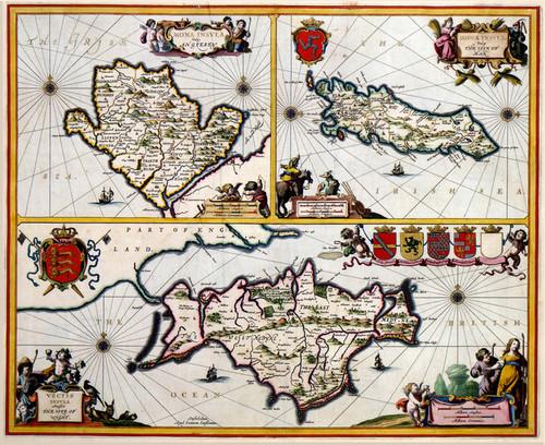 Art Prints of Isle of Wight, 1646 (427) by Johannes Jannsonius