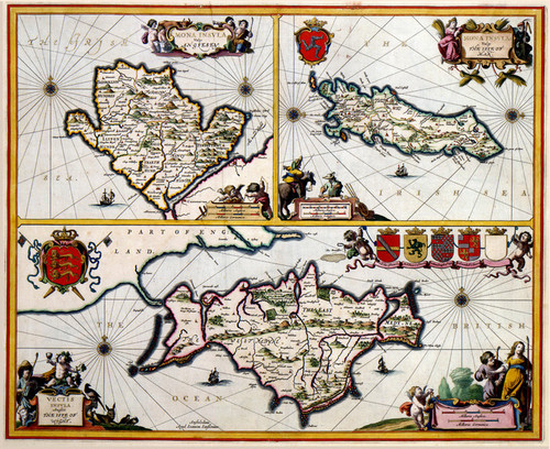 Art Prints of Isle of Wight, 1646 (427) by Johannes Jannsonius