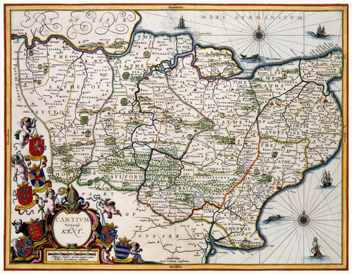 Art Prints of Kent, 1646 (328) by Johannes Jannsonius
