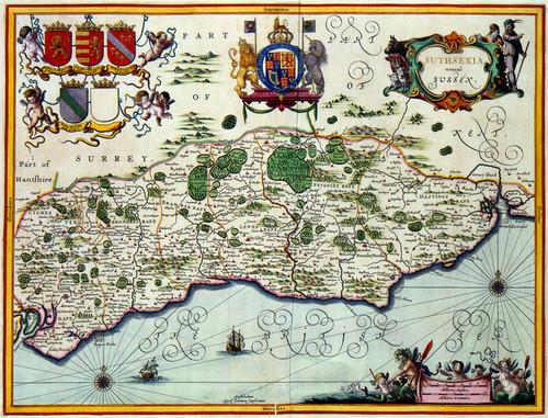 Art Prints of Sussex, 1646 (228) by Johannes Jannsonius