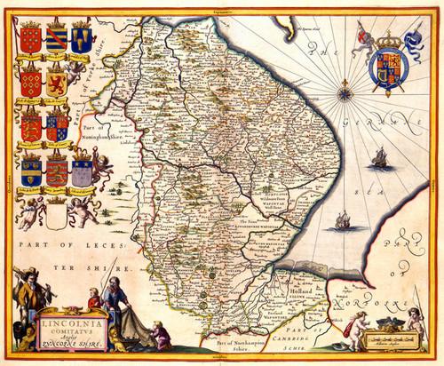 Art Prints of Lincolnshire, 1646 (430) by Johannes Jannsonius