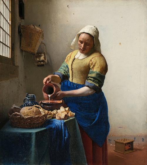 Art Prints of Milkmaid by Johannes Vermeer