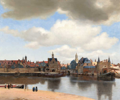 Art prints of A View of Delft by Johannes Vermeer