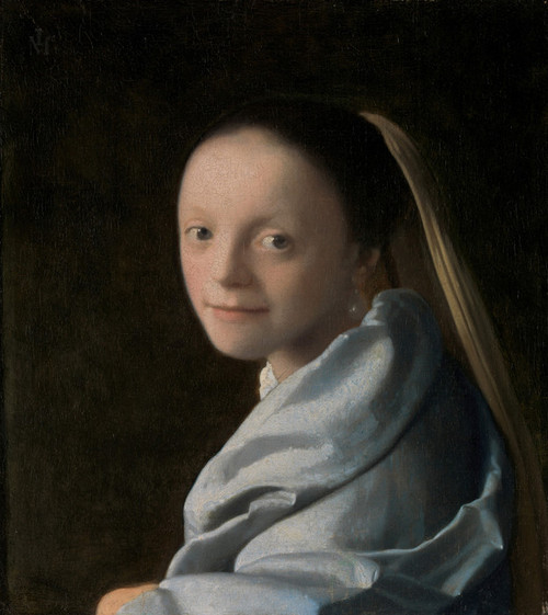 Art Prints of Study of a Young Woman by Johannes Vermeer