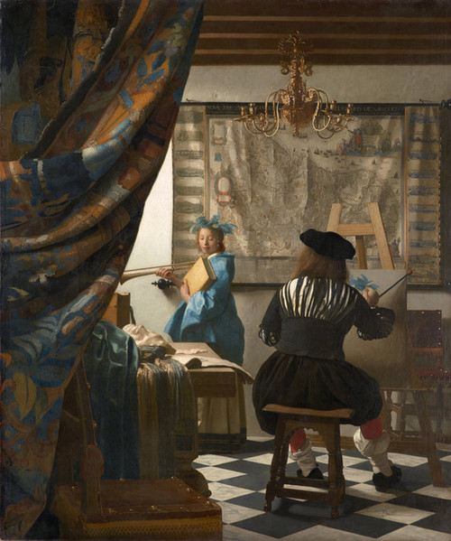 Art Prints of The Art of Painting by Johannes Vermeer
