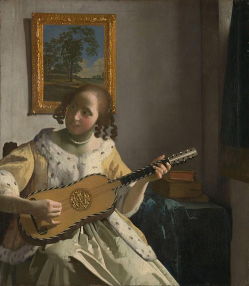 Art Prints of The Guitar Player by Johannes Vermeer