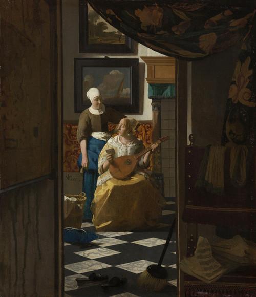 Art Prints of The Love Letter by Johannes Vermeer
