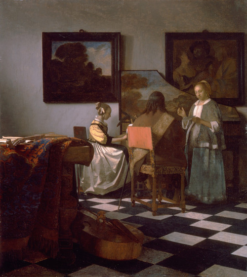 Art Prints of The Concert by Johannes Vermeer