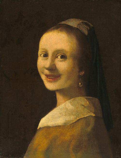 Art Prints of The Smiling Girl by Johannes Vermeer