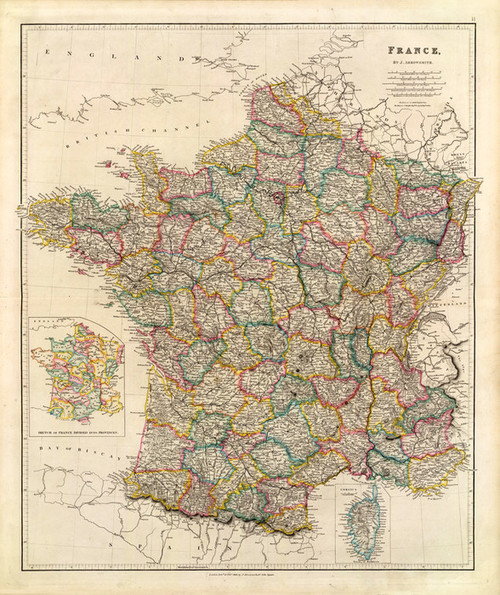 Art Prints of France, 1844 (4613011) by John Arrowsmith