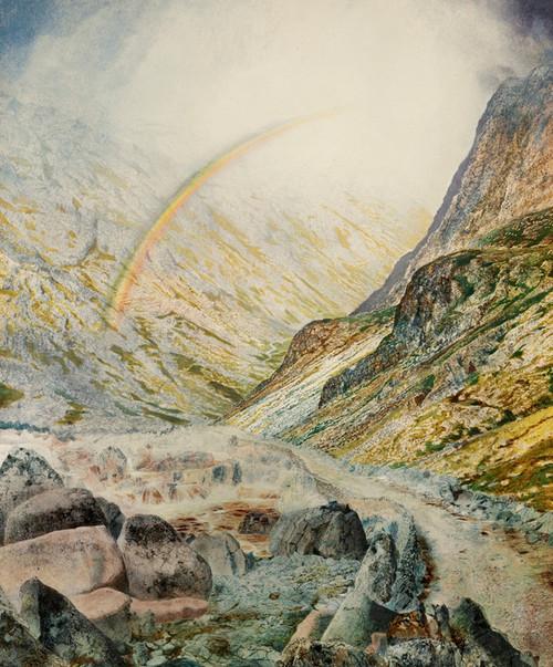 Art Prints of A Mountain Road Flood Time by John Atkinson Grimshaw