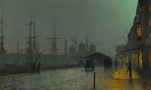 Art Prints of Princes Dock Hull by John Atkinson Grimshaw