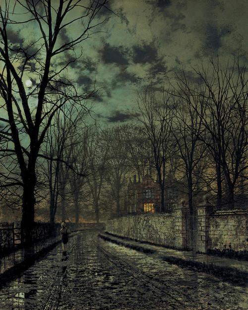 Art Prints of November by John Atkinson Grimshaw