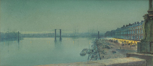Art Prints of Quai De Paris Rouen by John Atkinson Grimshaw