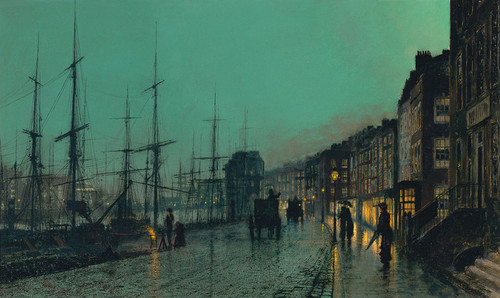 Art Prints of Shipping on the Clyde by John Atkinson Grimshaw