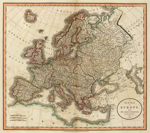 Art Prints of Europe, 1804 (1657004) by John Cary