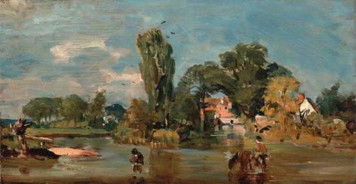 John Constable-Flatford Mill vintage fine art print