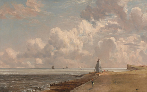 Art Prints of Harwich, the Low Lighthouse and Beacon Hill by John Constable