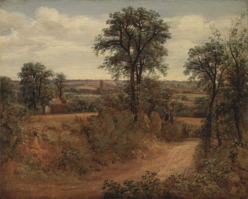 Art Prints of lane near Dedham by John Constable