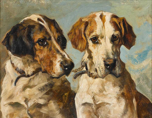 Giclee prints of Coupled Foxhounds by John Emms