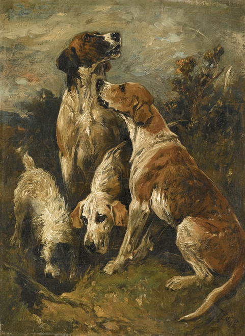 Art Prints of Hounds or Gone to Ground by John Emms