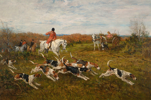 Art Prints of The Hunt in Full Cry by John Emms