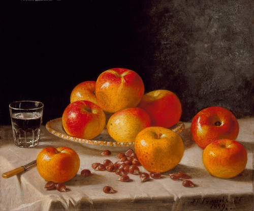 Art Prints of Still Life, Apples and Chestnuts by John F. Francis