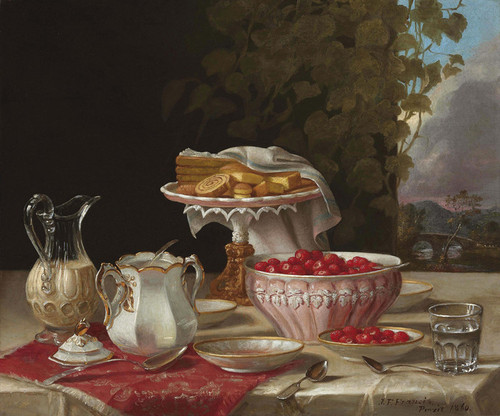 Art Prints of Strawberries and Cakes by John F. Francis