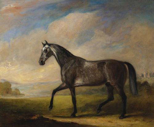 Art Prints of A Dappled Grey Horse in an Extensive Landscape by John Ferneley