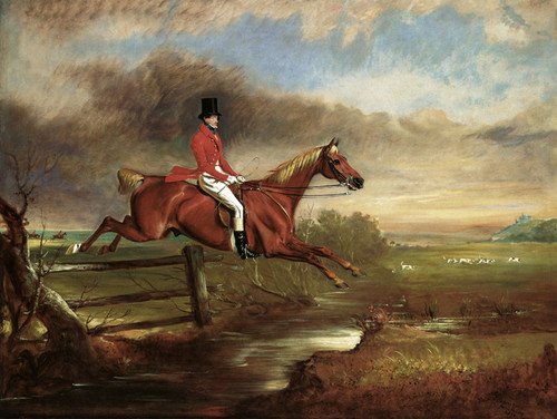 Art Prints of Henry August Craven Clearing a Brook with Hounds by John Ferneley