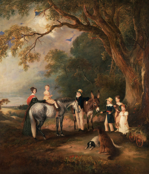Art Prints of Miss Catherine Herrick with Her Nieces and Nephews by John Ferneley