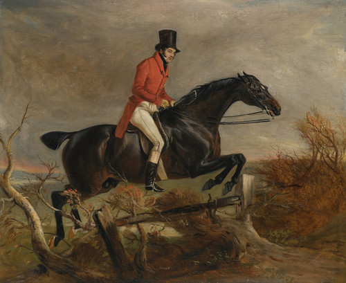 Art Prints of Sir Henry Goodricke Clearing a Fence on Grey Hunter by John Ferneley