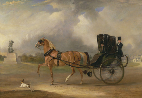 Art Prints of William Massey Stanley Driving a Cabriolet, Hyde Park by John Ferneley