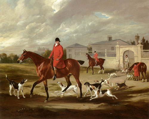 Art Prints of Thomas Goosey and Belvoir Hounds Leaving the Kennels by John Ferneley