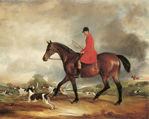 Art Prints of Captain Garth on His Bay Hunter with Hounds by John Ferneley
