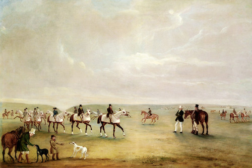 Art Prints of Training at Newmarket by John Ferneley
