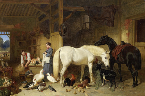 Art Prints of A Glimpse of an English Homestead by John Frederick Herring