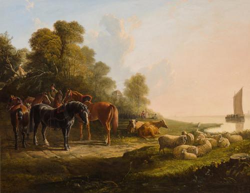 Art Prints of Awaiting the Return of the Ferry by John Frederick Herring
