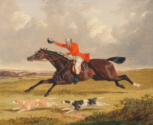 Art Prints of Foxhunting, Encouraging Hounds by John Frederick Herring