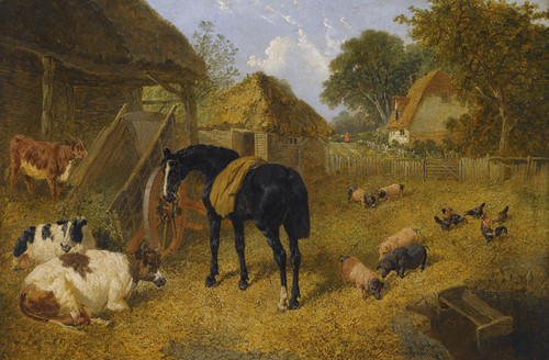 Art Prints of Livestock in a farmyard by John Frederick Herring
