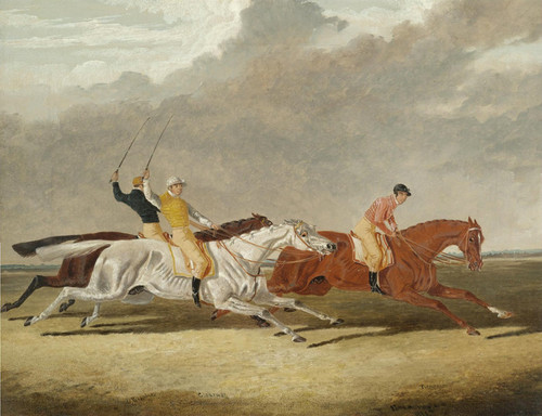 Art Prints of Race at Newmarket by John Frederick Herring