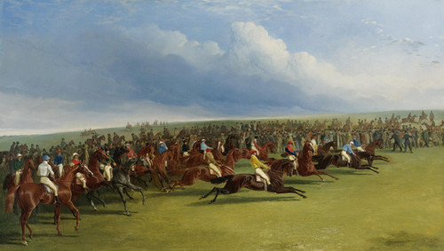 Art Prints of The Oaks, False Start by John Frederick Herring