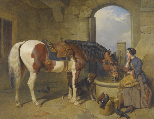 Art Prints of The Watering Place by John Frederick Herring