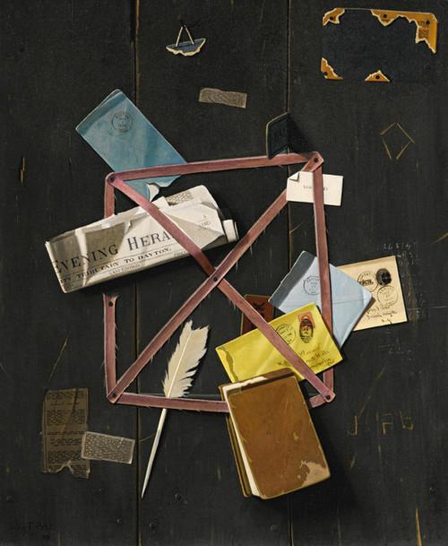 Art Prints of Old Time Letter Rack by John Frederick Peto