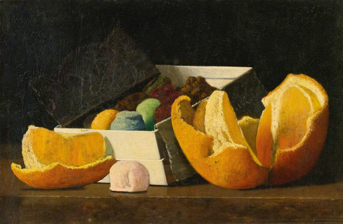 Art Prints of Still Life with Oranges and Box of Confections by John Frederick Peto