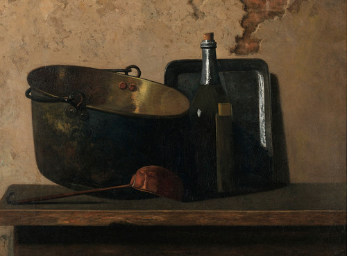 Art Prints of Wine and Brass Stewing Kettle by John Frederick Peto