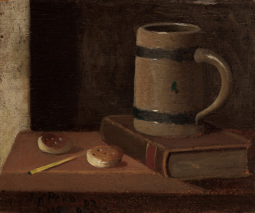 Art Prints of Mug, Book, Biscuits and Match by John Frederick Peto