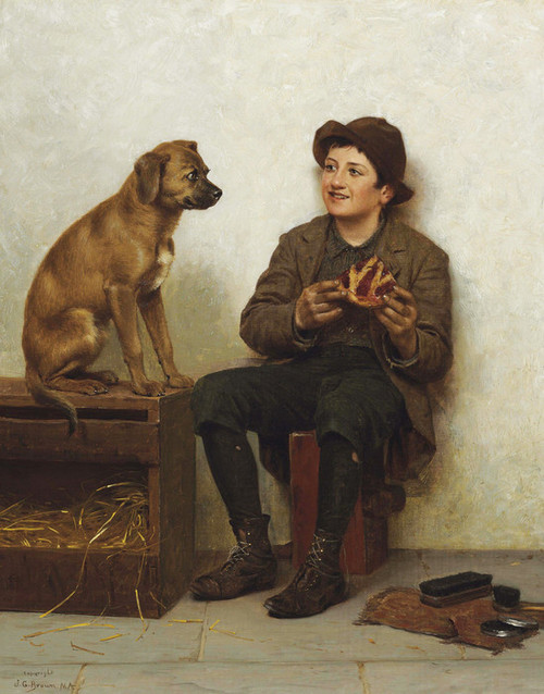 Art Prints of A Taste for Pie by John George Brown